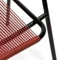 Zwart/ rode draad stoel
