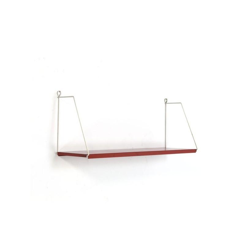 Metalen boekenplank rood