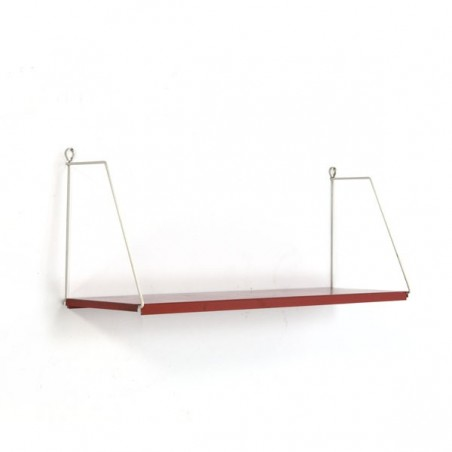 Metal book shelf red