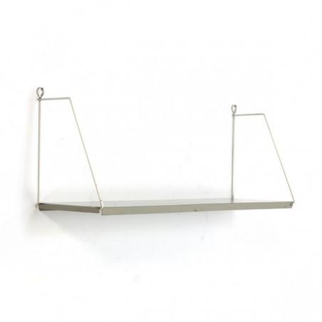Metal book shelf grey