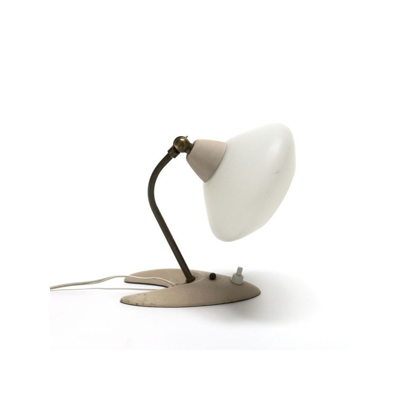 Small table lamp with glass shade