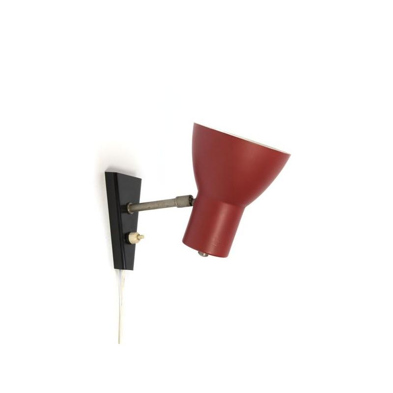Wandlamp zwart/ rood
