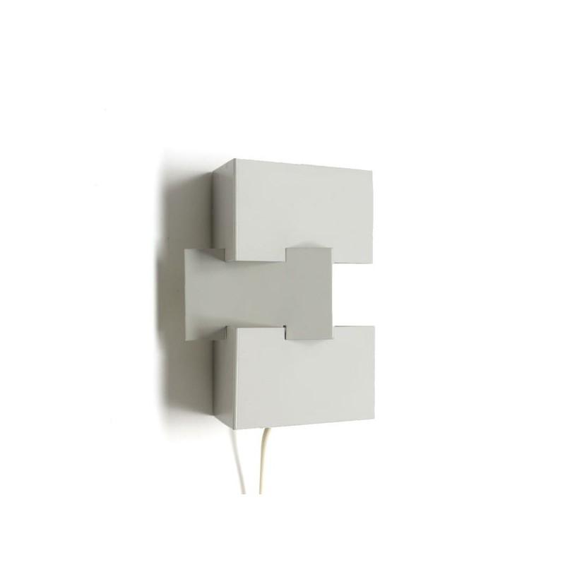 Modernistische wandlamp wit