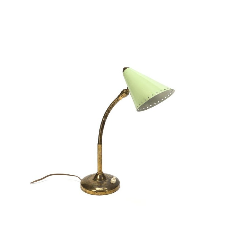Groen/ koperen tafellamp