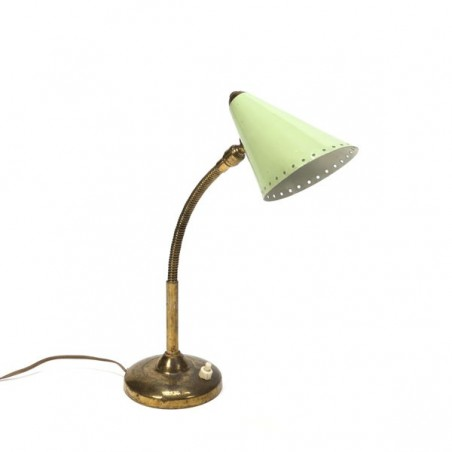 Green/ brass table lamp