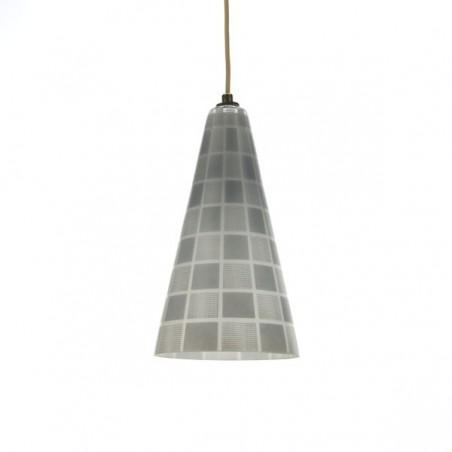 Glazen hanglamp vijftiger jaren