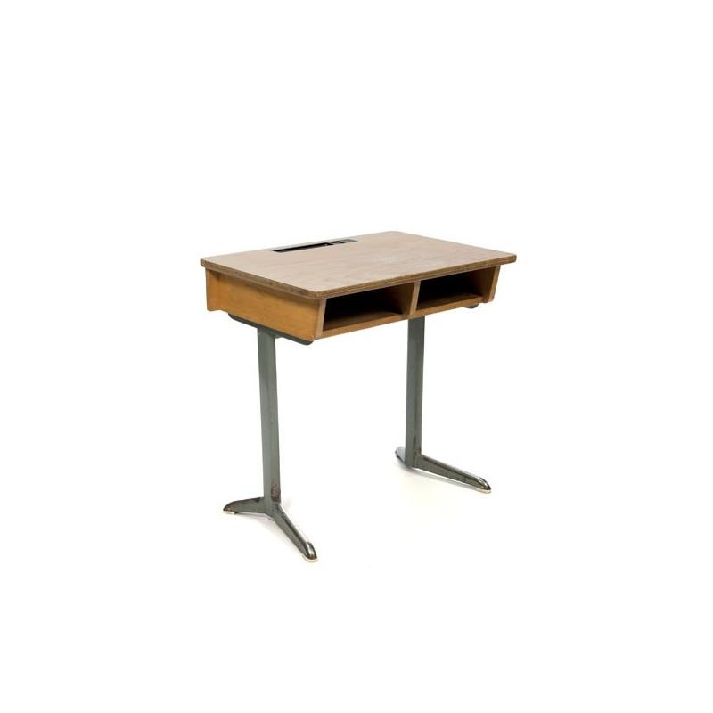 Industrial school desk wood