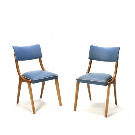 Set of 2 chair 1950's blue