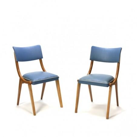 Set van 2 stoelen jaren 50 blauw
