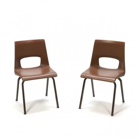 Set of 2 child's school chairs by Eromes