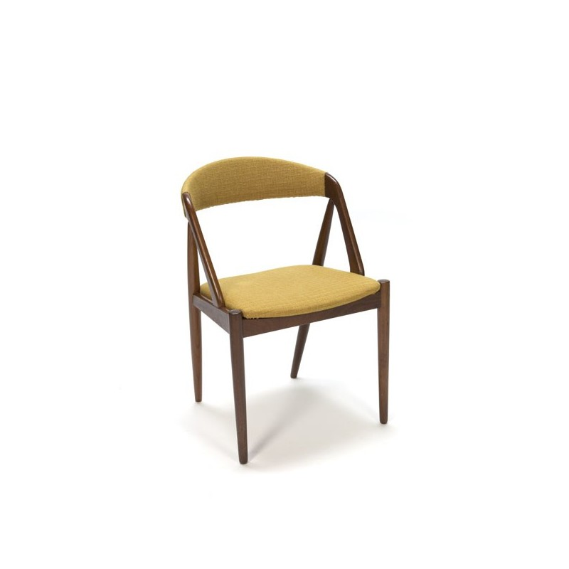 Danish des chair with yellow upholstery
