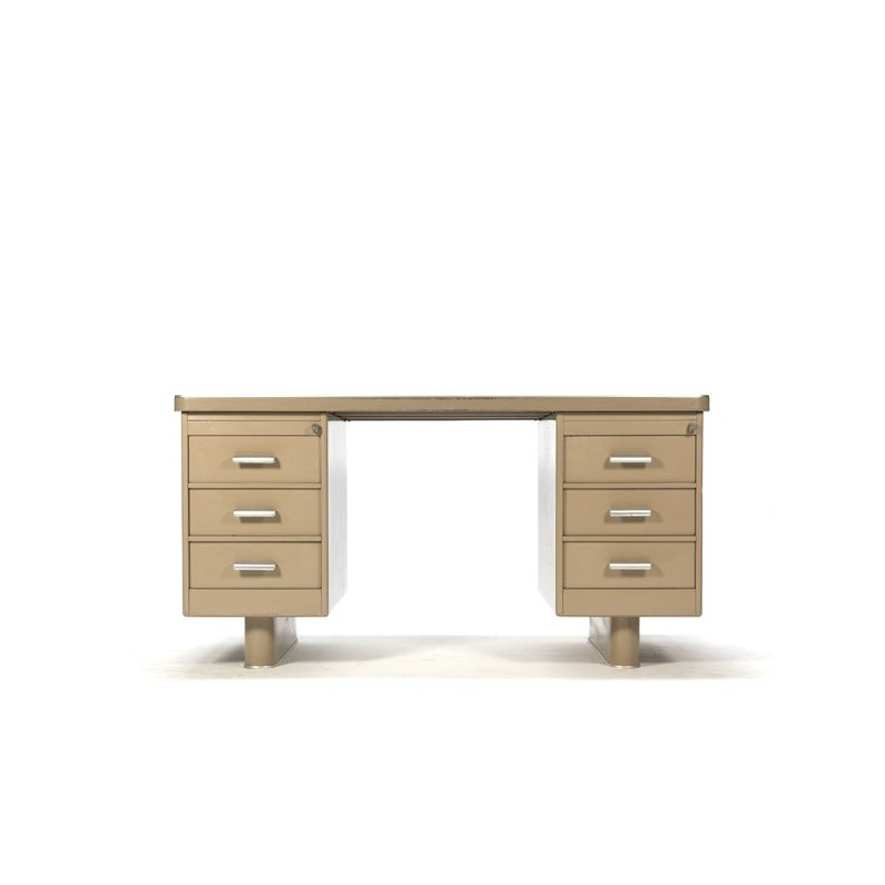 Industrial desk sandy-colored