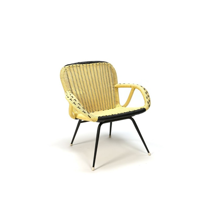 Yellow easy chair from the fifties