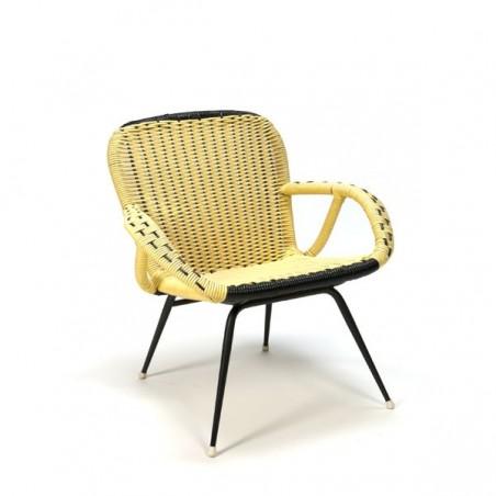 Gele fauteuil uit de fifties