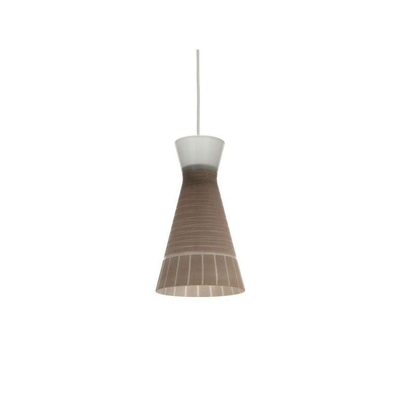 Glazen hanglamp uit de 1950's