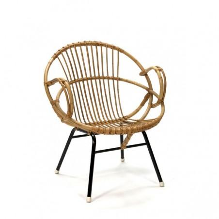 Rotan zitstoel klein model