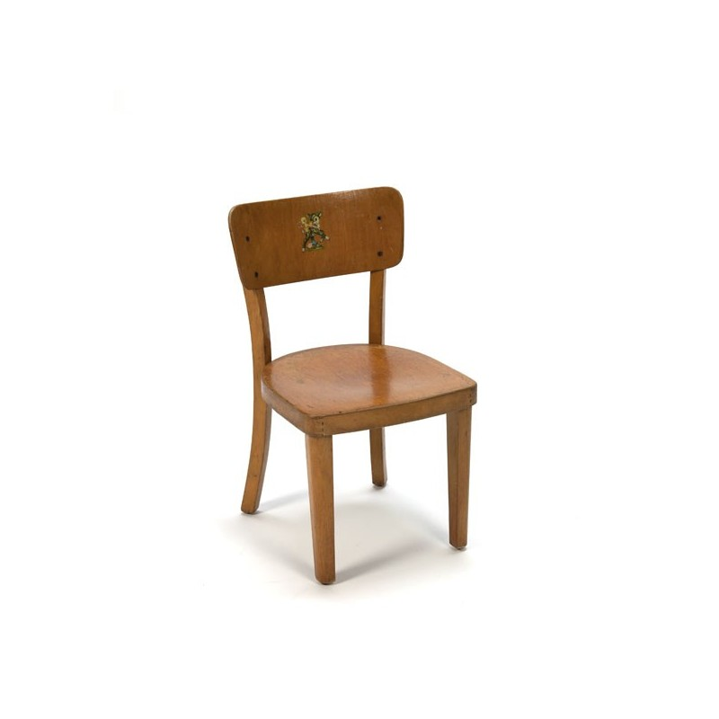 Wooden child's chair with Bambi image