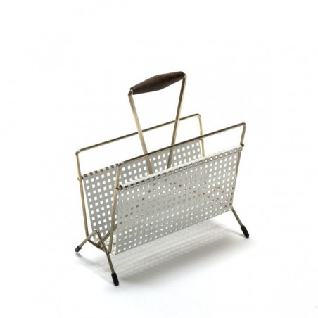 Mail holder white perforated metal no 2