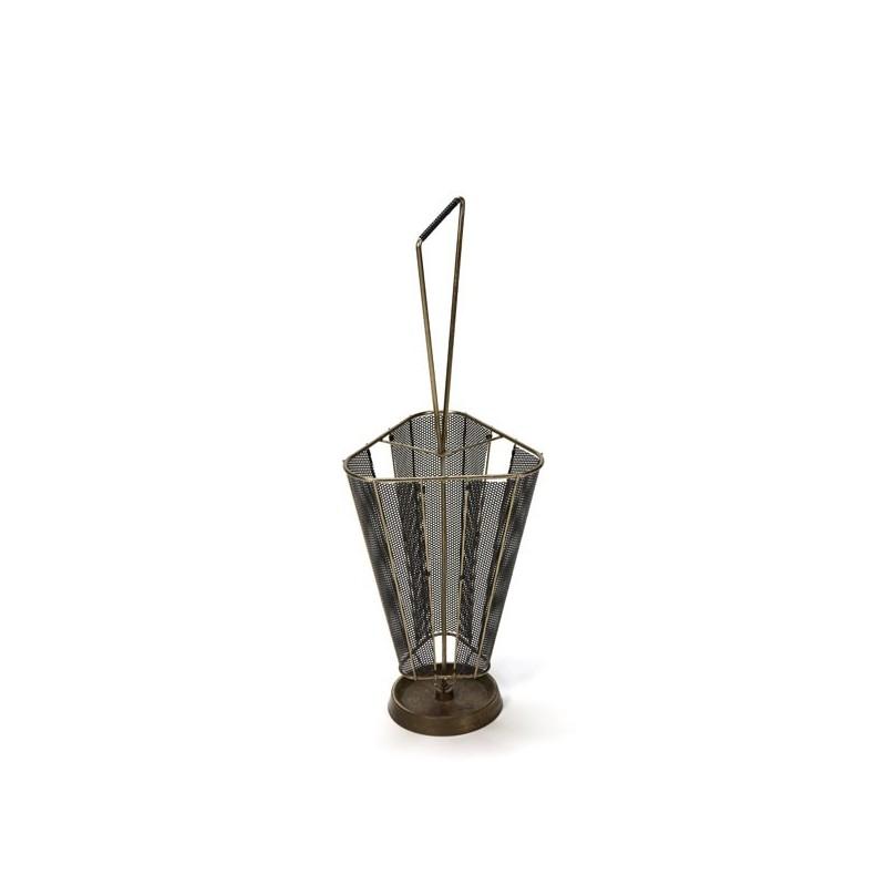Umbrella stand black/ brass