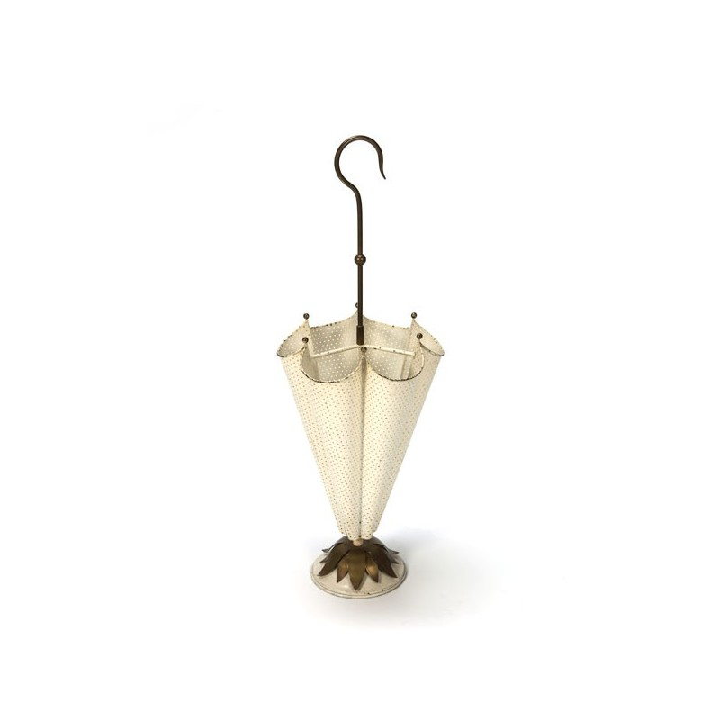 Umbrella stand cream/ brass