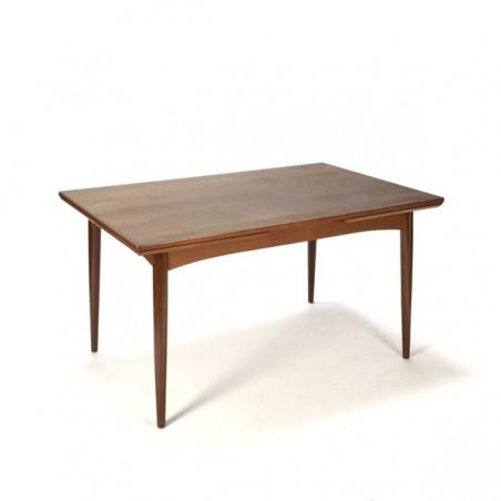Teak dining table Danish vintage design 1960s