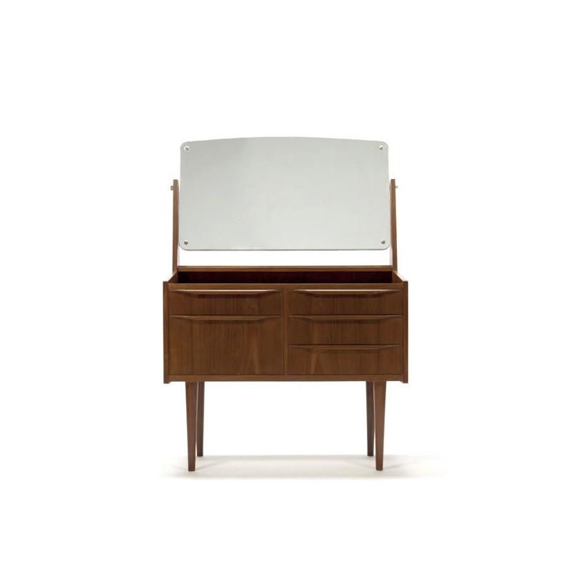 Teakhouten kaptafel Deens design jaren 60