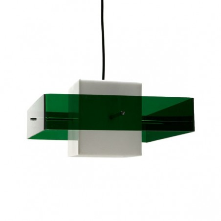Vintage Plexiglazen hanglamp zestiger jaren