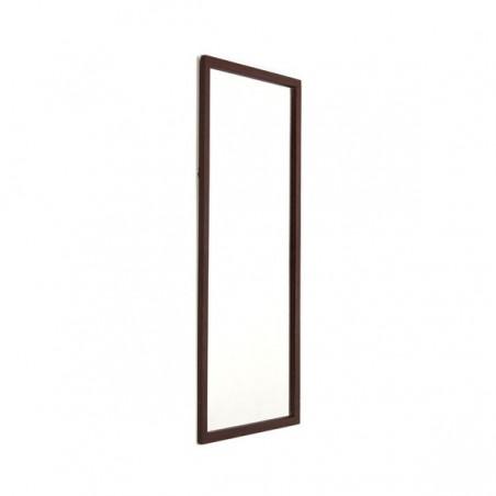Deense spiegel met donkeren teakhouten rand