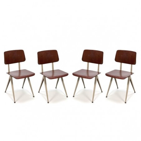 Set of 4 industrial chairs by Galvanitas
