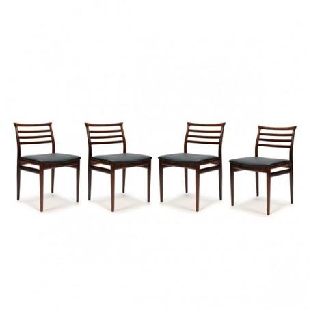 Erling Torvits set van 4 eettafel stoelen