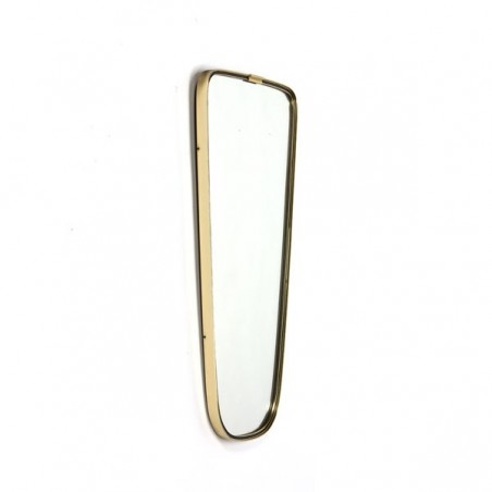 Mirror with brass edge