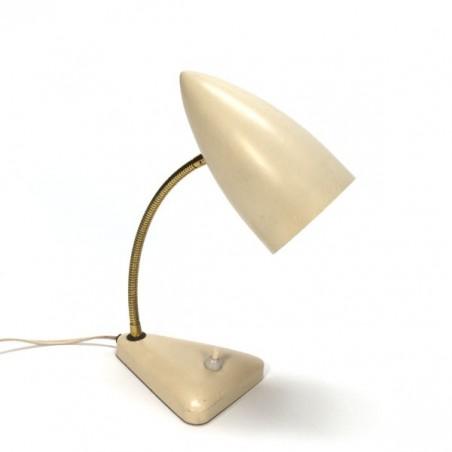 Tafellamp met cremekleurige kap