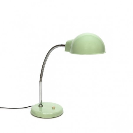 Table lamp with mint green cap