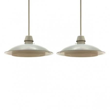 Set of 2 industrial Philips pendants