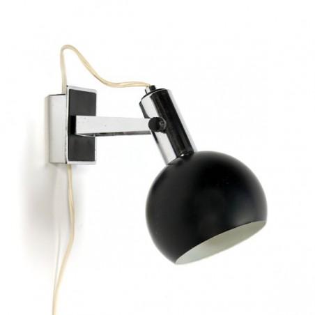 Black ball-shaped wall lamp