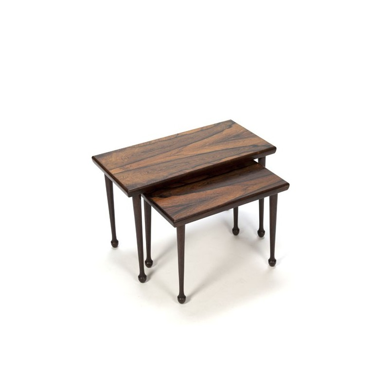 Set of 2 rosewood nest tables