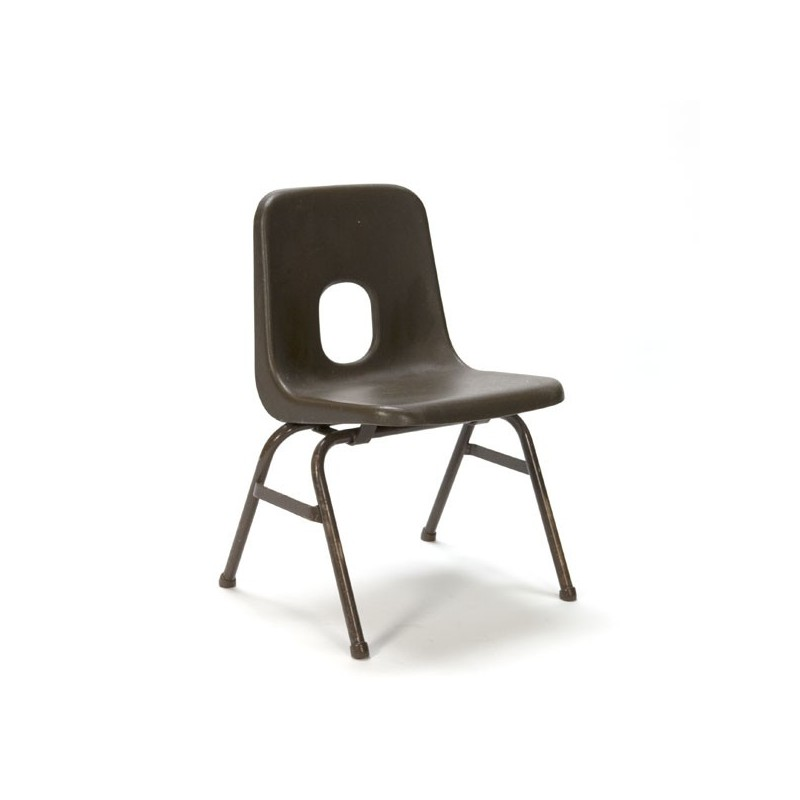 Brown plastic child's chair