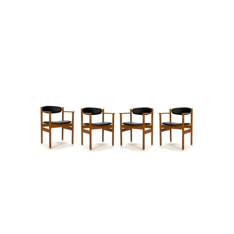 Set of 4 FDB Denmark chairs