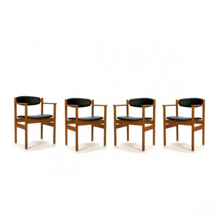 Set of 4 FDB Denmark chairs