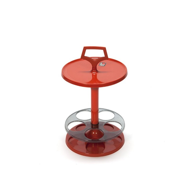 "Orange plastic table ""Flair"""