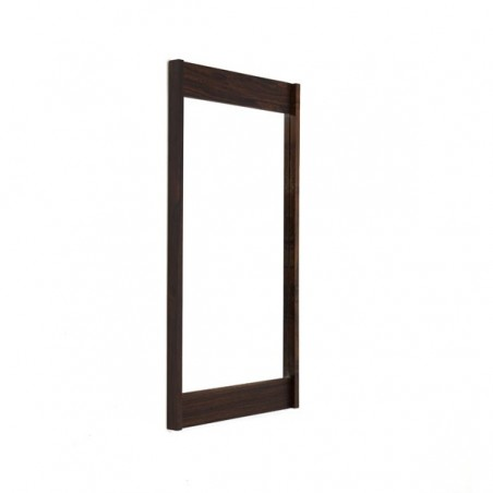 Mirror with rosewood edge