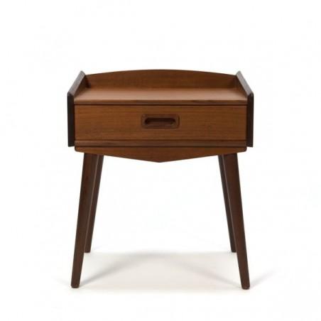 Small teak bedside cabinet