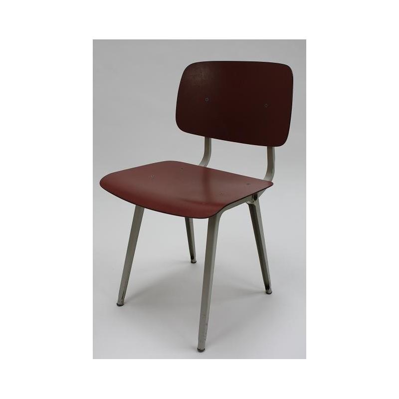 Friso Kramer Revolt stoel grijs/rood