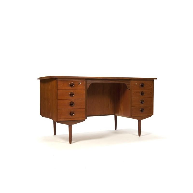 Large design desk in teak