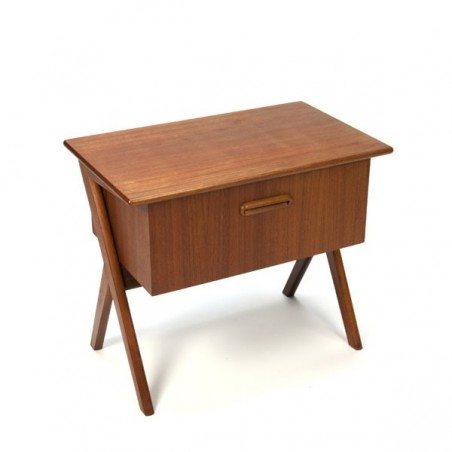 Small teak cabinet with large drawer