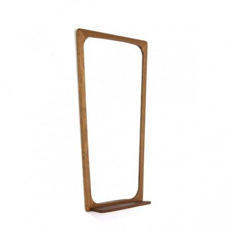 Danish mirror with teak shelf
