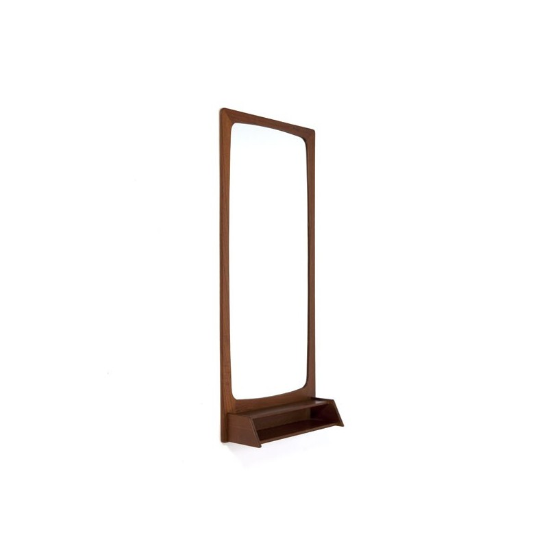 Design mirror in teak