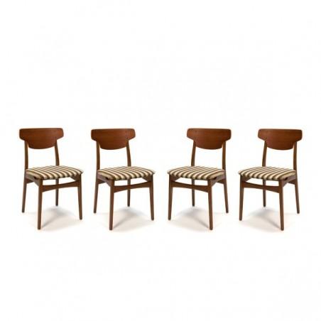 Teakhouten stoelen set van 4