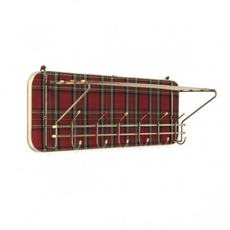 Coat rack with tartan
