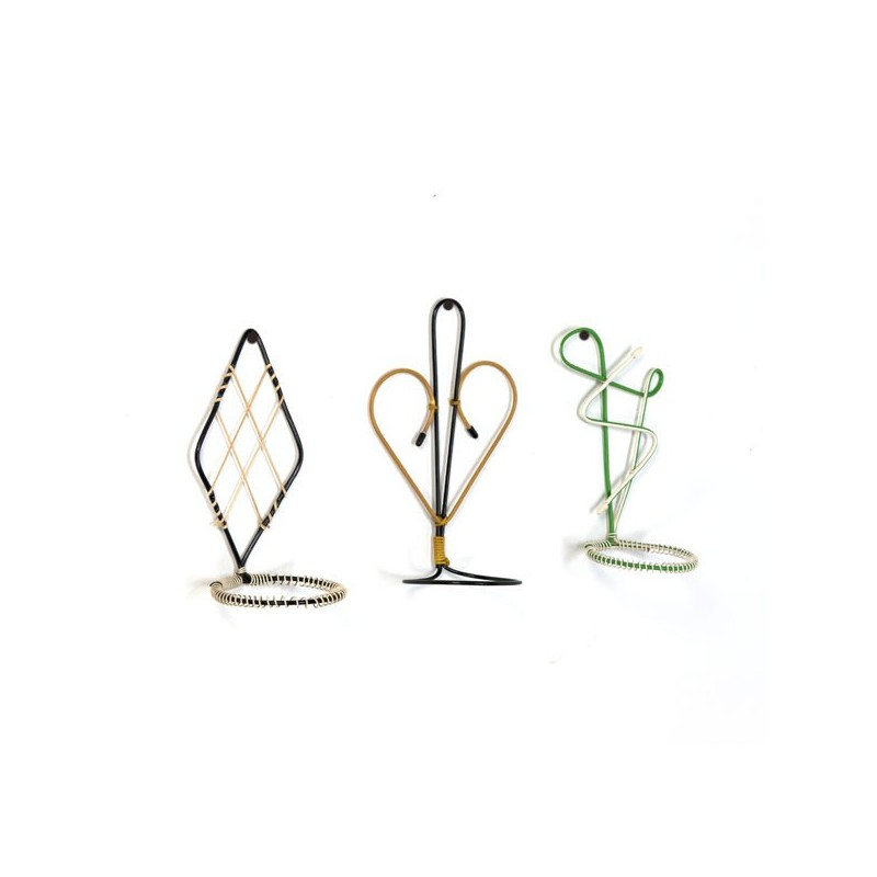 Wall rack for flower pots 1950's